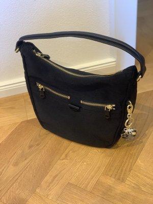 Kipling Tasche schwarz mit Anhänger