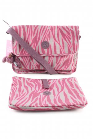 Kipling Umhängetasche pink-hellgrau Streifenmuster Casual-Look