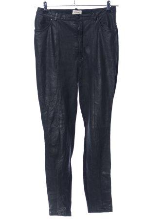 Kippie Pantalon en cuir noir style décontracté