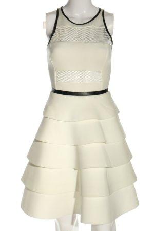Kira Plastinina Vestido estilo flounce blanco-negro elegante
