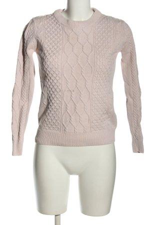 Kira Plastinina Warkoczowy sweter różowy Warkoczowy wzór W stylu casual