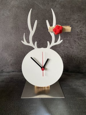 Orologio analogico bianco