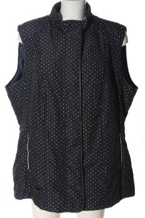 Kirsten Chaleco deportivo negro-blanco estampado con diseño abstracto