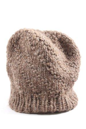 KiSS clothing Bonnet en crochet rose chair torsades style décontracté