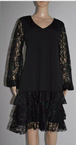 Kitana by Rinascimento Italy  Damen Dress Kleid Spitze Schwarz  Gr.42