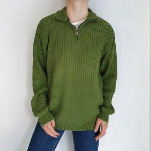 Kitaro grün XL Jacke Cardigan Strickjacke Oversize Pullover Hoodie Pulli Sweater Top True Vintage
