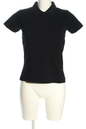 Kitaro Polo-Shirt schwarz Casual-Look