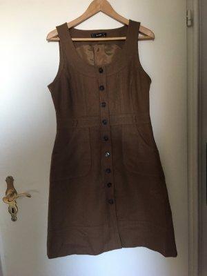 Hallhuber Vestito di lana color cammello-marrone