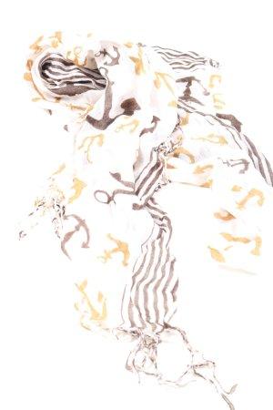 KJ Bufanda de flecos estampado con diseño abstracto look casual