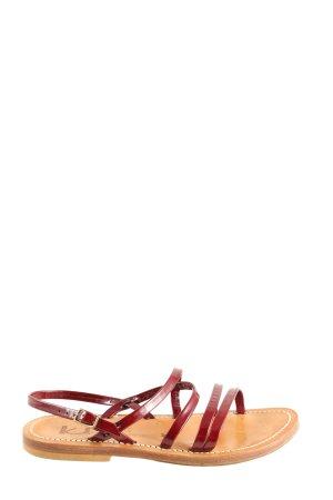 KJaques Riemchen-Sandalen creme-rot Casual-Look