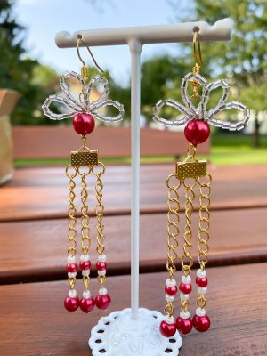 Handmade Dangle red