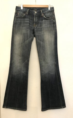 7 For All Mankind Jeans a zampa d'elefante blu Cotone