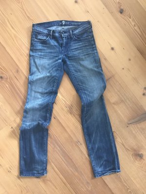 Klassiker: 5-Pocket-Denim von 7 For All Mankind in Vintage-Waschung