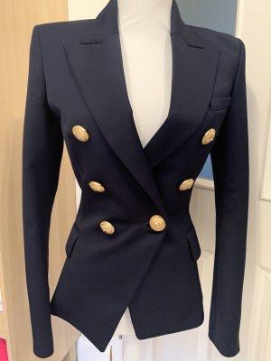 Balmain Blazer de lana azul oscuro
