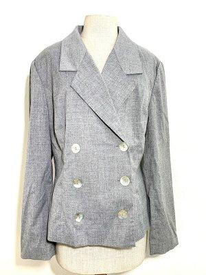 Alba Moda Blazer de esmoquin color plata