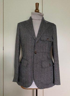 Ralph Lauren Tweed Blazer black-natural white silk