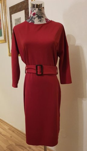 Bodyflirt Sukienka z dżerseju ciemnoczerwony-rudy