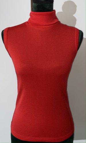 Camisa de cuello de tortuga rojo poliamida