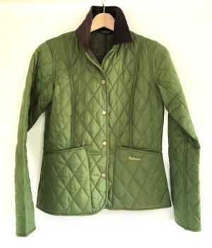 Barbour Quilted Jacket grass green-dark brown