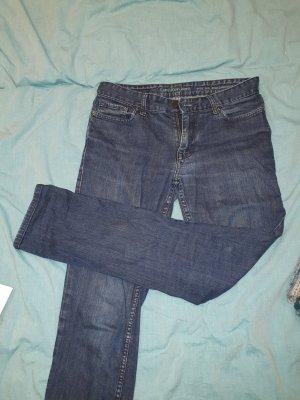 Calvin Klein Jeans Jeansy z prostymi nogawkami ciemnoniebieski