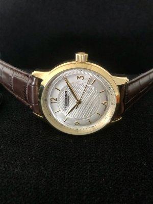 stührling Zegarek ze skórzanym paskiem złoto-brązowy Skóra