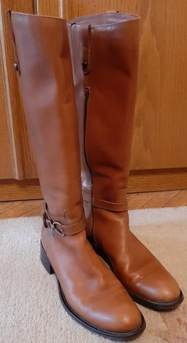 Walter Bauer Riding Boots cognac-coloured-light brown leather