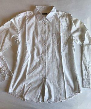 klassisch geschnittene, weiße Bluse von Marc O'Polo