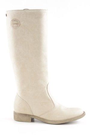 Esprit Jackboots oatmeal-sand brown leather