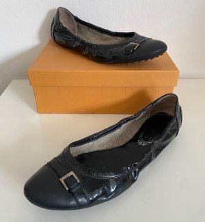 Tods Foldable Ballet Flats black leather