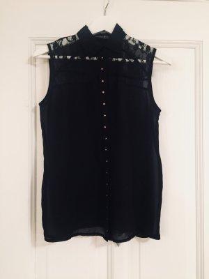 klassische Bluse ärmellos