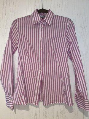Caliban Camicetta a maniche lunghe bianco-rosa