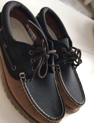 Timberland Zapatos de marinero azul oscuro-marrón