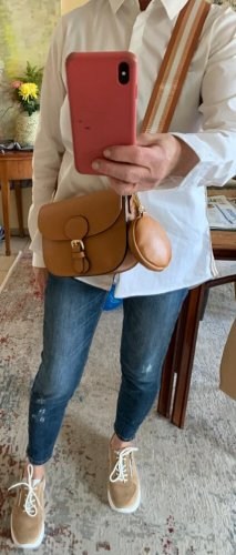Börse in Pelle Crossbody bag brown