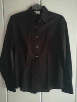 Klassische Business Bluse in schwarz