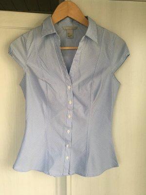 Klassische Business Bluse Streifen kurzarm H&M
