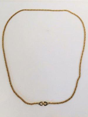 Klassische Christian Dior Vintage Kette/Gliederkette - vergoldet