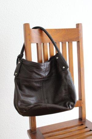 Klassische Handtasche inkl. passender Geldbörse aus Leder