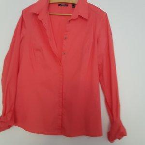 Klassische Hemdbluse apricotfarben slim fit von Mexx Gr 40