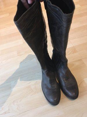 Helen Billkrantz Bottes à l'écuyère gris anthracite cuir