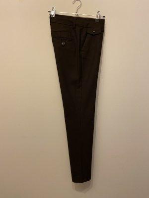 H&M Low-Rise Trousers dark brown