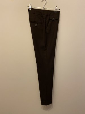 H&M Lage taille broek donkerbruin
