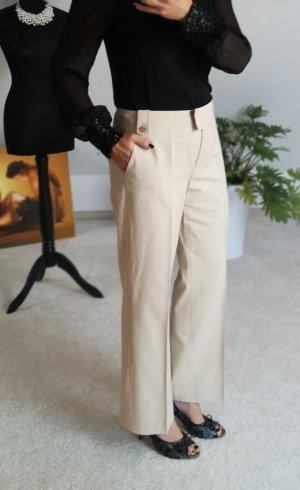 Blacky Dress Spodnie z zakładkami kremowy Bawełna