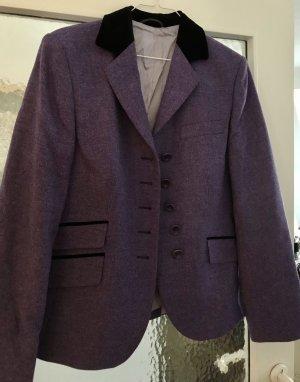 Klassische Jacke aus Wolle mit Samt Revers