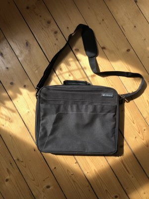 Laptop bag black mixture fibre