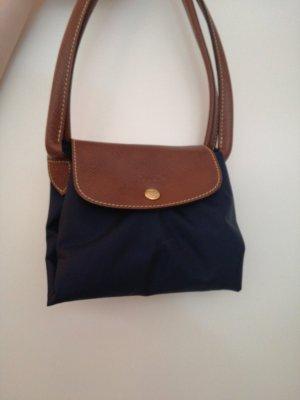 Longchamp Schoudertas bruin-donkerblauw