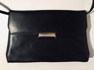 Klassische Mandarina Duck Umhängetasche aus Leder in Schwarz