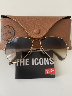 Rayban Aviator Glasses gold-colored
