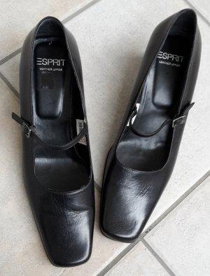 Esprit Strapped pumps black leather