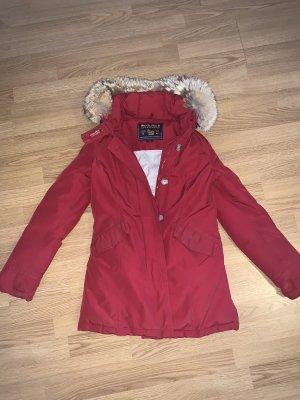 Klassische rote Woolrich Jacke xs