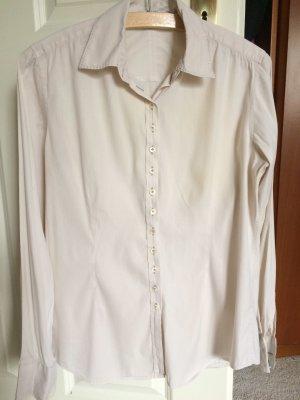 Klassische schlichte weiße Bluse v Aglini
